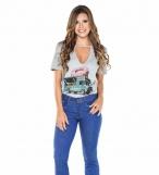 Saia jeans rosa
