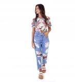 Short jeans degradê