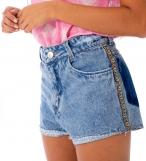 Short jeans detonado azul claro