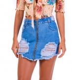 Short de cintura alta jeans