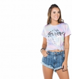 Blusa Cropped jeans