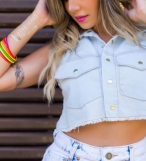 Camisa jeans poa