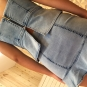 Saia jeans com babado