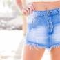 Saia jeans desfiada